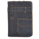 Fashion Jeans PU Leather Case for Ipad MINI - Black + Brown