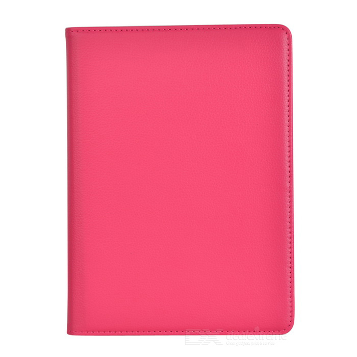 360-Grad-Dreh PU-Leder Smart Case w / Ständer für ipad AIR - Deep Pink