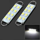 Rigid Loop Festoon 44mm 0.8W 40LM 6500K White Light Epistar 1210 SMD LED Reading Lamp for Car (2PCS)