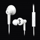 Hiput is-3 Super Bass In-Ear Earphones w/ Microphone for Iphone - White (3.5mm Plug / 1.2m)