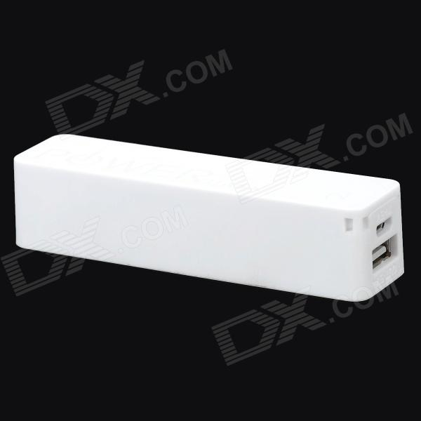 DIY Assembly 1800mAh 18650 Battery USB Mobile Power Bank - White battery capacity tester resistance testing mobile power lithium lead acid battery can be 18650 serial line 20w