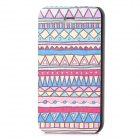 Tribe Pattern Protective Flip Open PU Leather Case w/ Stand for Iphone 4 / 4S - Multicolored