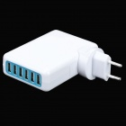 5V 7A 6-Port USB Power Adapter + EU Plug Adapter Set for Iphone 5 / Ipad MINI - White
