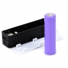 "DIY Assembly ""1800mAh"" 18650 Battery USB Mobile Power Bank - Black"