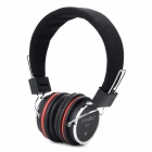 JuneRose JR-X5 Stereo Headset Headphones w/ Microphone - Black (3.5mm)