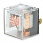 12V 80A 5-flat-pin-plug Relay for Vehicle - Transparent + Silver + Black