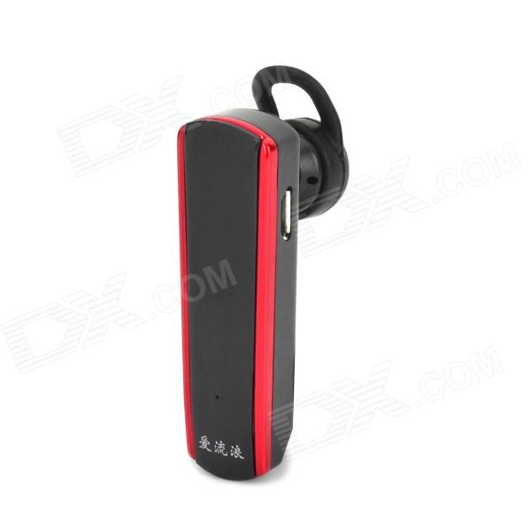 L6 Bluetooth v3.0 Stereo Headset w/ Microphone / A2DP / AVRCP - Black + Red