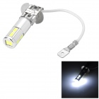 H3 2.5W 170LM 6500K White Light Epistar 5060 SMD LED Foglight for Car - Silver + Yellow