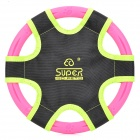 super TPR 6-Angle Pet Dog Training Frisbee Toy - Deep Pink + Black + Green