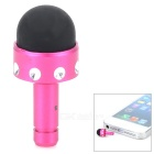 3.5mm Dust-Proof Plug & Stylus Pen - Deep Pink + Silver + Black