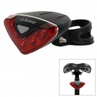 CAOKU 5-LED Red Light Bike Safety Tail Light - Red (2 x AAA)