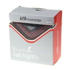 CAOKU HY-LD208 5-LED Red Light Bike Safety Tail Light - Red (2 x AAA)