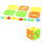 Toddler's Intelligence Education Blocks Puzzle Toy - Multicolored