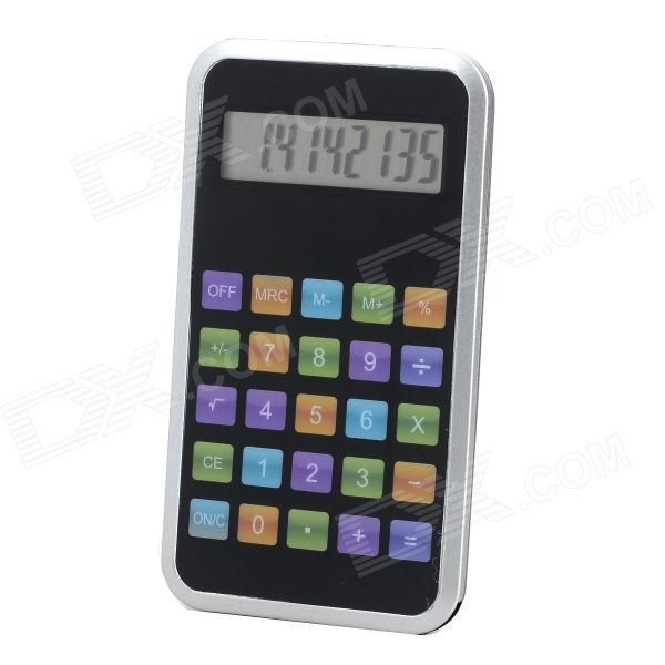 1.8 LED Screen 8-Digit Display Calculator - Black + Silver (1 x AG10) 100 pcs ld 3361ag 3 digit 0 36 green 7 segment led display common cathode
