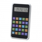 "1.8"" LED Screen 8-Digit Display Calculator - Black + Silver (1 x AG10)"