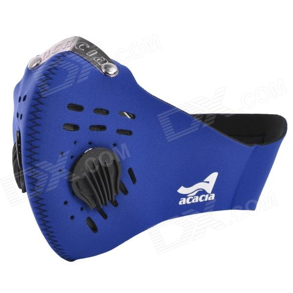 Acacia 060107 Bicycle Riding Dustproof Neoprene Face Mask - Blue (L) outdoor sports bike face mask filter air anti pollution for bicycle riding traveling dustproof mouth muffle