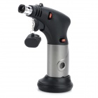 Dual-Flame Windproof Butane Gas Jet Lighter - Black + Grey