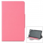Protective PU Leather + Plastic Case for Google Nexus 7 (Generation II) - Pink