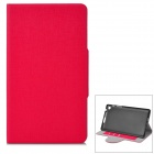 YS-OO2 Protective PU Leather + Plastic Case for Google Nexus 7 Generation II - Red