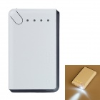 20000mAh Dual-USB Mobile Power Bank Fonte para iPhone / PSP / Sony / Samsung w / LED - Black + White