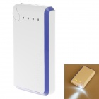 20000mAh Dual-USB Mobile Power Bank Fuente para Iphone / PSP / Sony / Samsung w / LED - azul + blanco