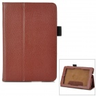 Protective PU Leather Flip-open Case for Amazon Kindle Fire HD / HD 2 - Brown