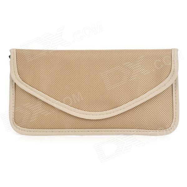 Cell Phone Double Layer Signal Shield Pouch - Beige