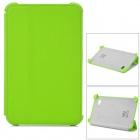 Cross Pattern Protective PU Leather Case for Samsung P3100 - Green