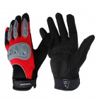 Goodhand Bicycle Riding Full-Finger Gloves - Black + Red + Grey (Size L / 2 PCS)