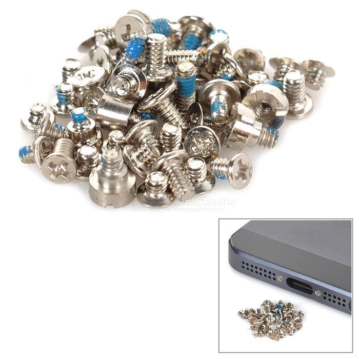 Repairing Parts Stainless Steel Screw Set for Iphone 5 - Silver (54 PCS)