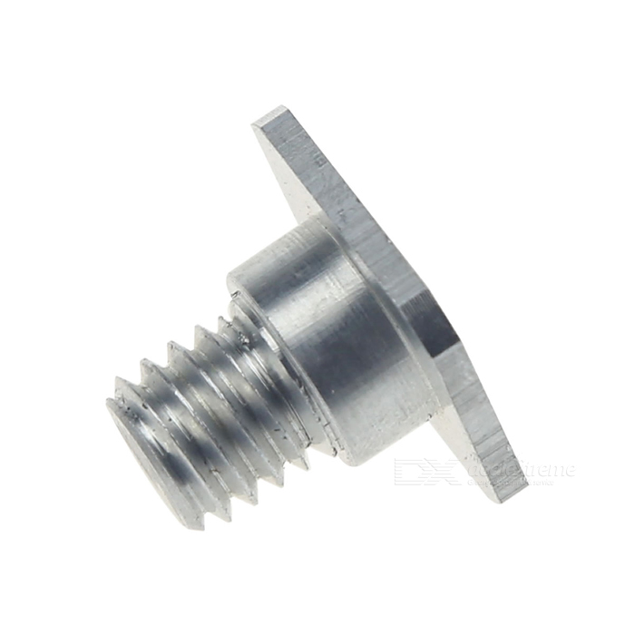 1/4 Female to 3/8 Male Screw Adapter for Hotshoe Holder - Silver metal 1 4 male to 1 4 male 3 8 screw set silver