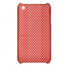 Mesh Style Protective Plastic Back Case for Iphone 3g / 3GS - Dark Red