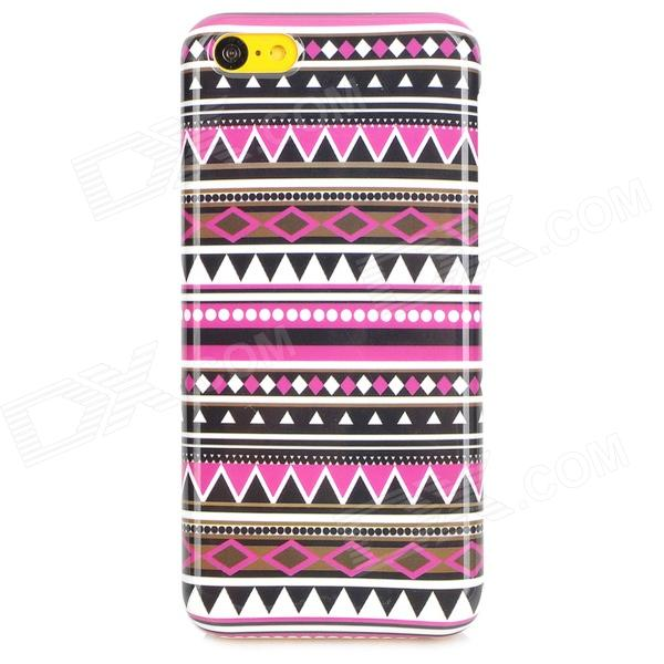 Tribal Ethnic Style Protective Plastic Back Case for Iphone 5C - Deep Pink + Black + White momax зарядное устройство сетевое momax u bull 4 usb 5а голубой