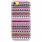 Tribal Ethnic Style Protective Plastic Back Case for Iphone 5C - Deep Pink + Black + White