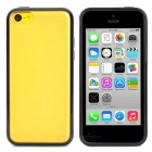 Protective TPU + Plastic Back Case for Iphone 5C - Black + Translucent White