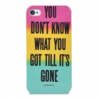 Graffiti Style Protective Plastic Back Case for Iphone 4 / 4S - Purple + Yellow + Blue