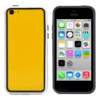 Protective TPU + Plastic Bumper Frame w/ Buttons for Iphone 5C - White + Black