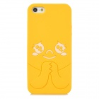 Cute Cartoon Style Protective Silicone Back Case for Iphone 5 / 5s - Yellow