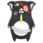 Cute Pirate Pig Style Protective Silicone Back Case for Iphone 5 / 5s - Black