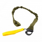 Breakaway Safety Lanyard - Green + Black + Yellow