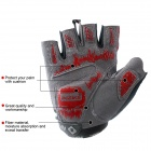 INBIKE Outdoor Sports Cycling Fitness Half Fingers Gloves - Black + Grey + Red  (Pair / Size M)