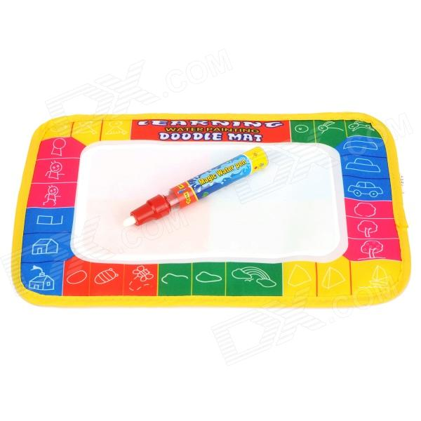 CPTCAM Kid's Paint Learning Water Pen Doodle Mat - White + Multicolored