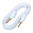3.5mm Male to Male Audio Flat Cable - White + Black (95cm)