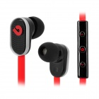 BIDENUO G780 Universal In-Ear Earphones w/ Microphone for Iphone / HTC / Samsung - Black + Red