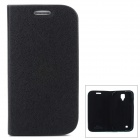 GTcoupe S-027 Protective PU Leather Flip-Open Case for Samsung Galaxy S4 i9500 - Black