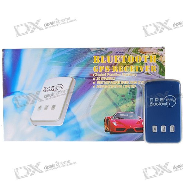 20-Channel Car Navigation and Tracking Bluetooth GPS Receiver