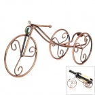 Retro Bicycle Style Iron Wine Rack - Brass