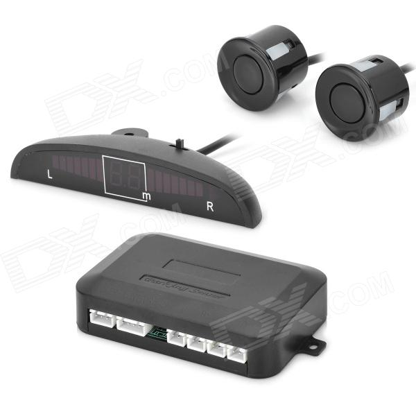 Car Distance Detection System Rear Parking Sensor LED Display Voice Reversing Radar