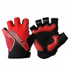 Spakct Bicycle Riding Half-Finger Gloves - Red + Black (Size XL / 2 PCS)