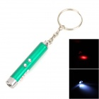 Doglemi DC1002 Pet Cat's Red Laser Toy + LED White Flashlight - Green (3 x LR41)